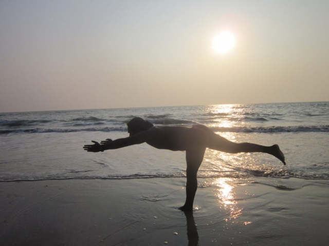 Yoga at arambol